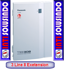jual pabx panasonic 3 line 8 extension
